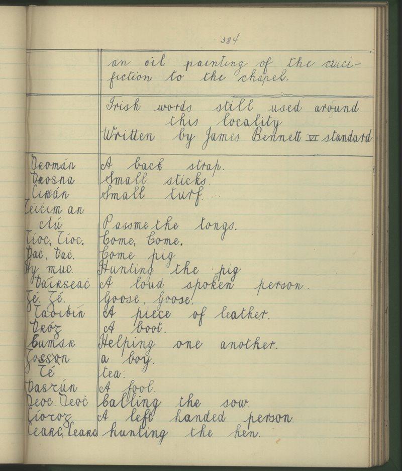 Irish Words Still Used Around this Locality