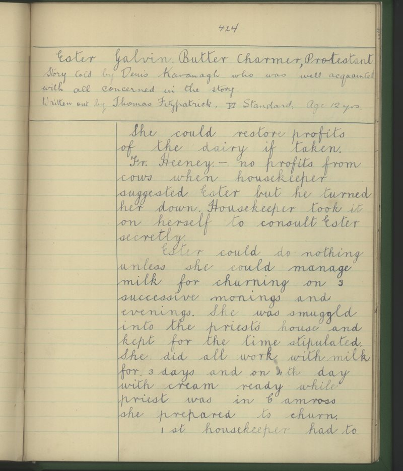 Ester Galvin - Butter Charmer, Protestant