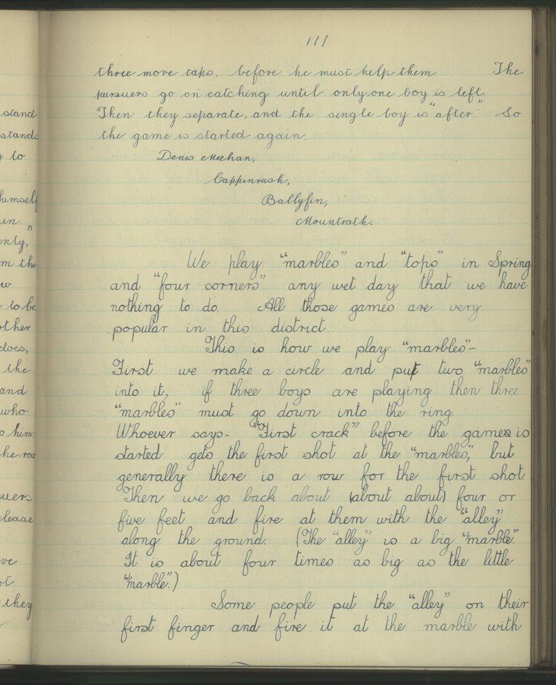 Ballyfin, Mountrath | The Schools' Collection
