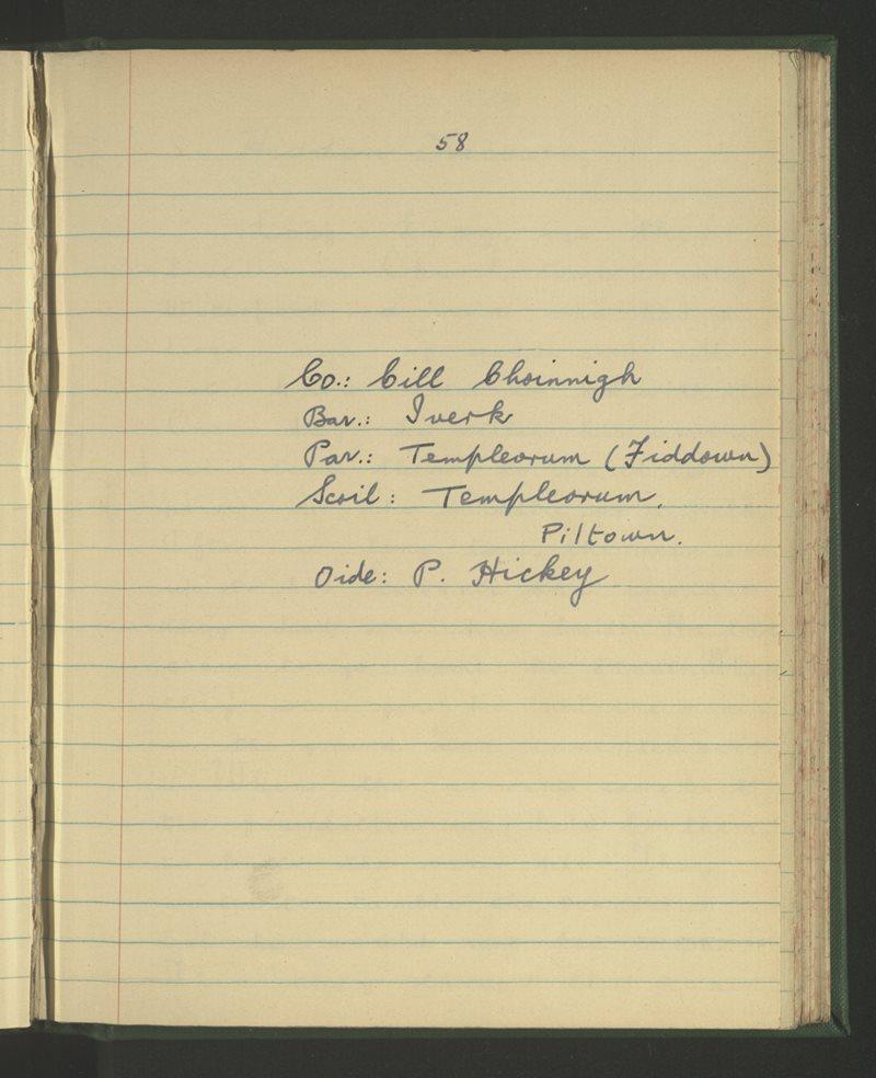 Templeorum, Piltown | Bailiúchán na Scol