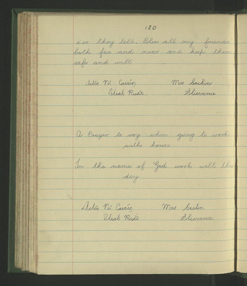 Slieverue | The Schools' Collection