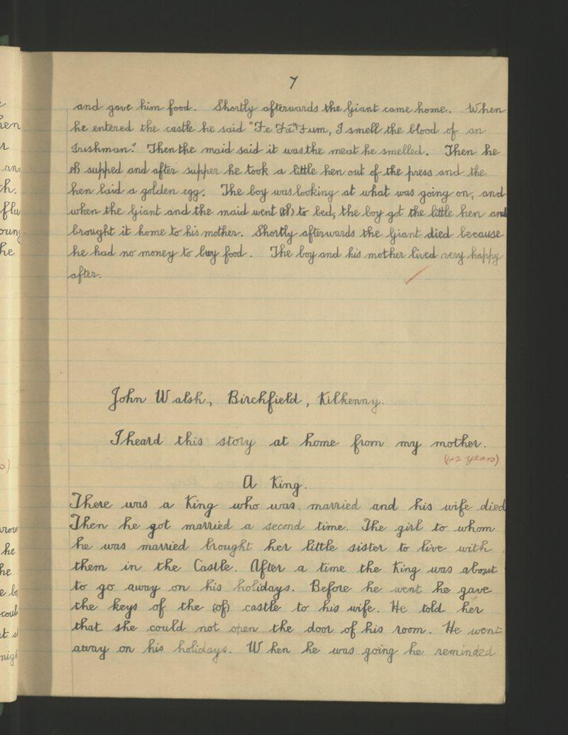 Naomh Pádraig, Cill Choinnigh   The Schools' Collection