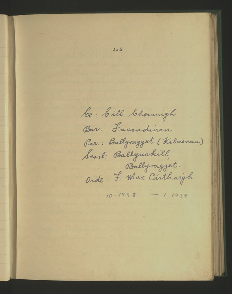 Ballyuskill (B.), Ballyragget | The Schools' Collection