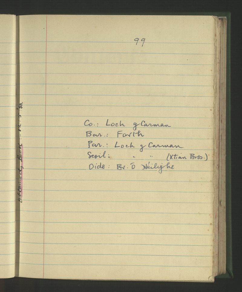Loch gCarman (Christian Bros.) | The Schools' Collection