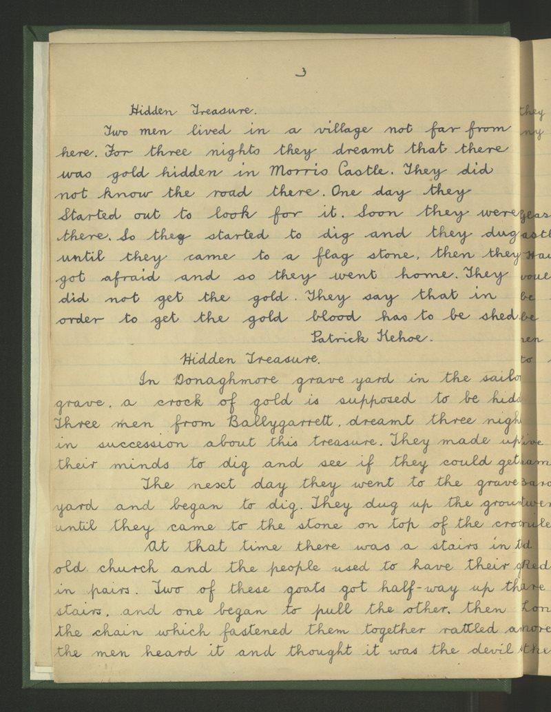 Ballygarrett | The Schools' Collection