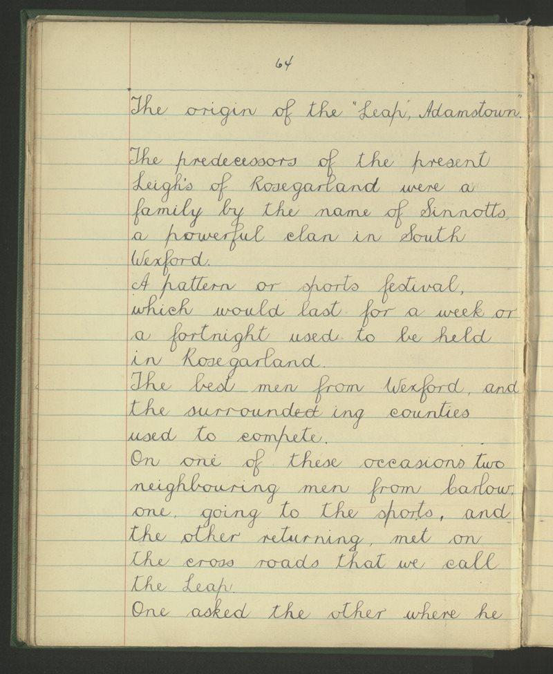 The Origin of The Leap, Adamstown