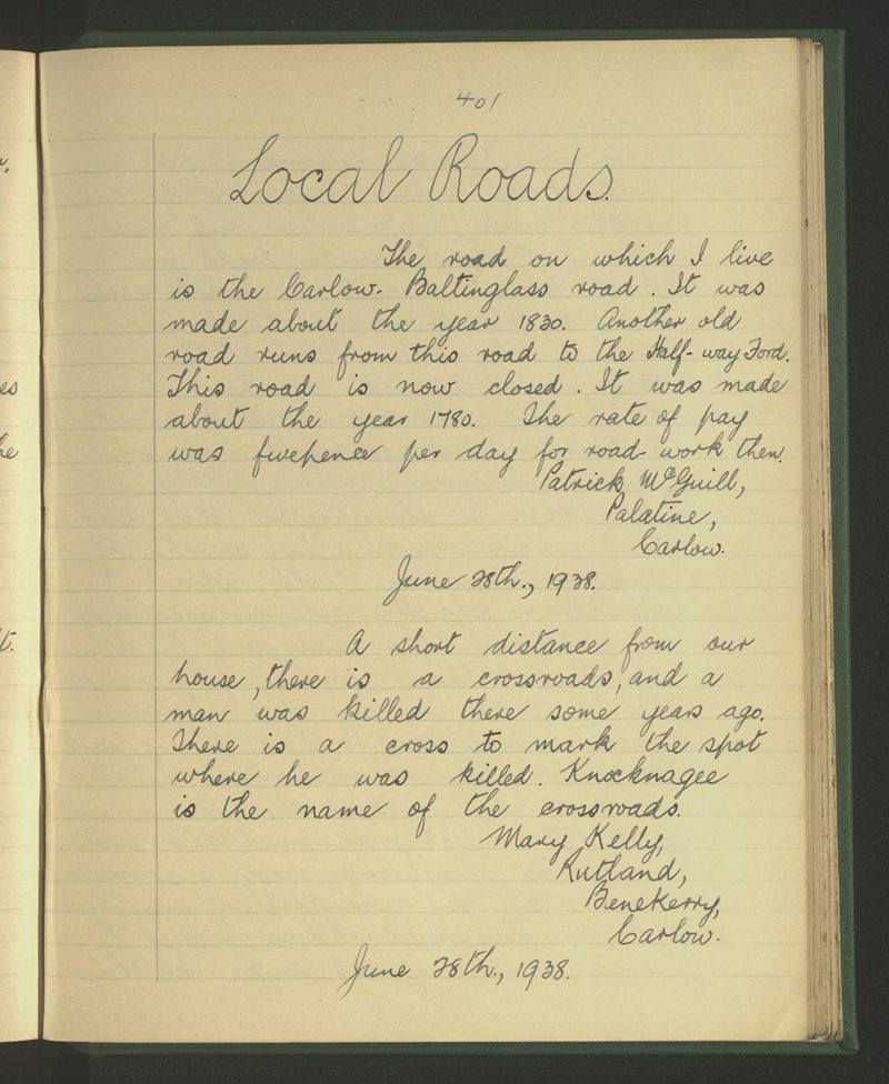 Bennekerry, Carlow | The Schools' Collection