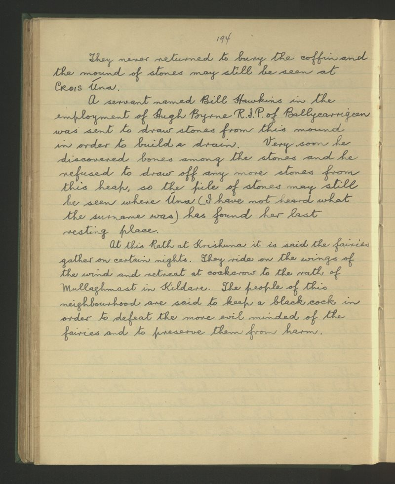 Talbotstown, Kiltegan | The Schools' Collection