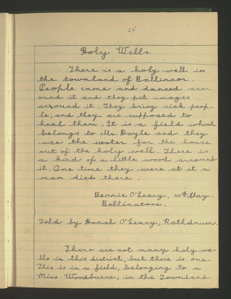Ballinatone, Rathdrum | Bailiúchán na Scol