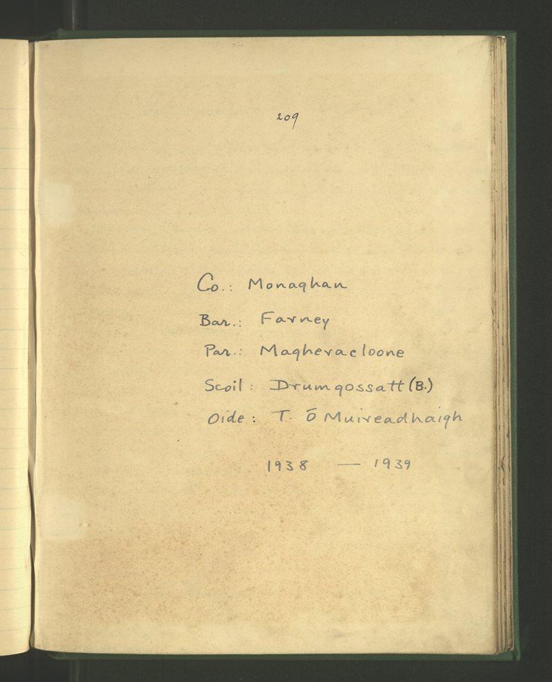 Drumgossatt (B.) | The Schools' Collection