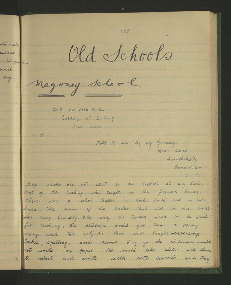 Old Schools - Magoney School