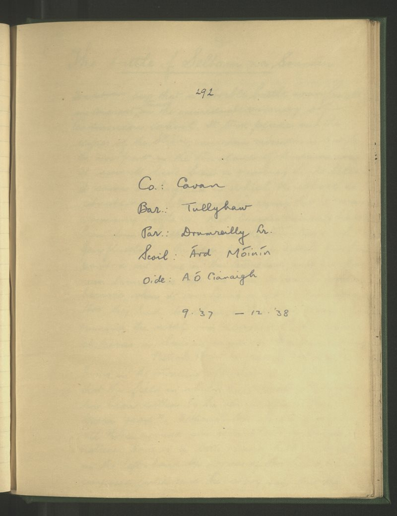 Árd Móinín | The Schools' Collection
