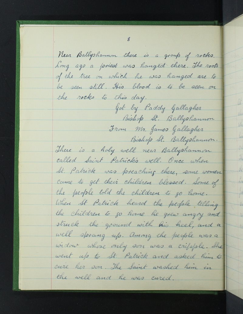 St Joseph's, Béal Átha Seanaigh   The Schools' Collection