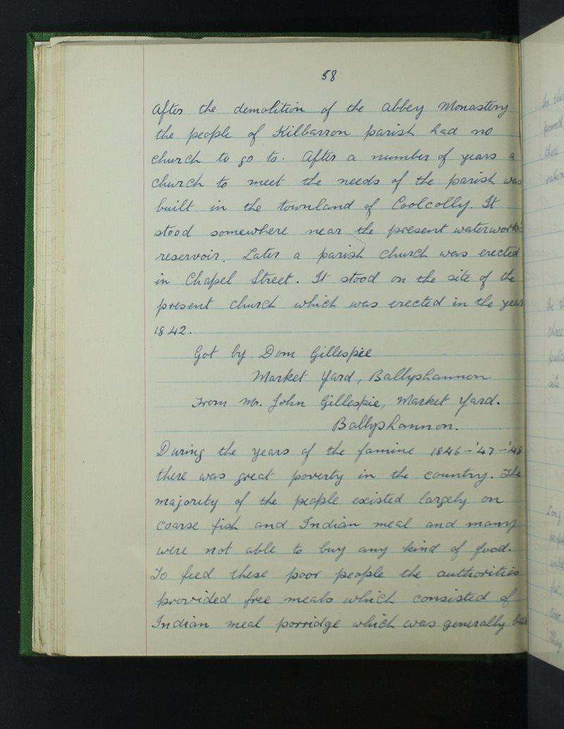 St Joseph's, Béal Átha Seanaigh | The Schools' Collection