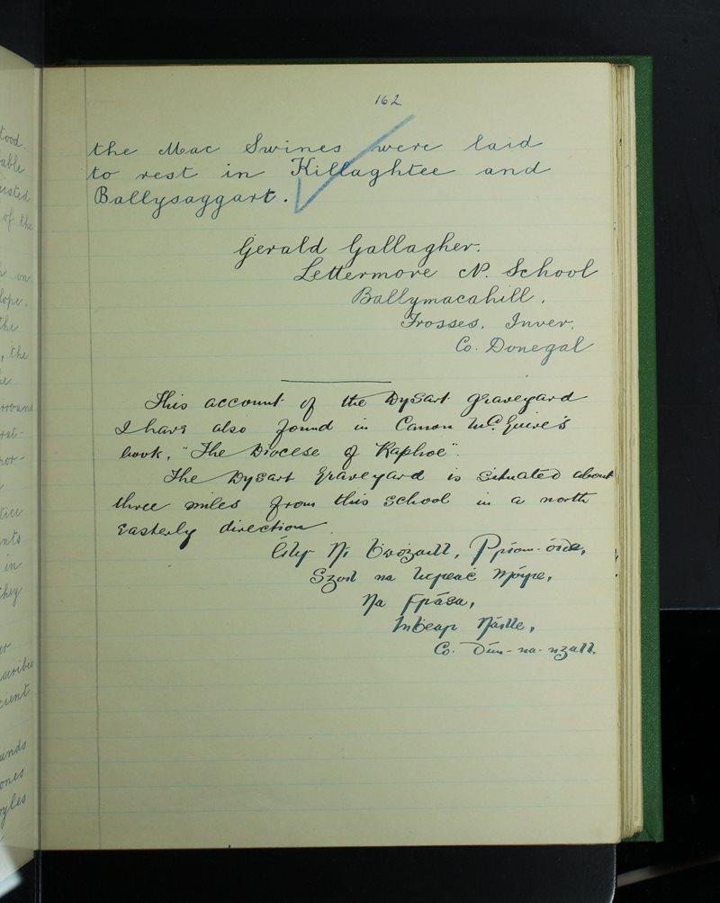 Leitir Mhór | The Schools' Collection