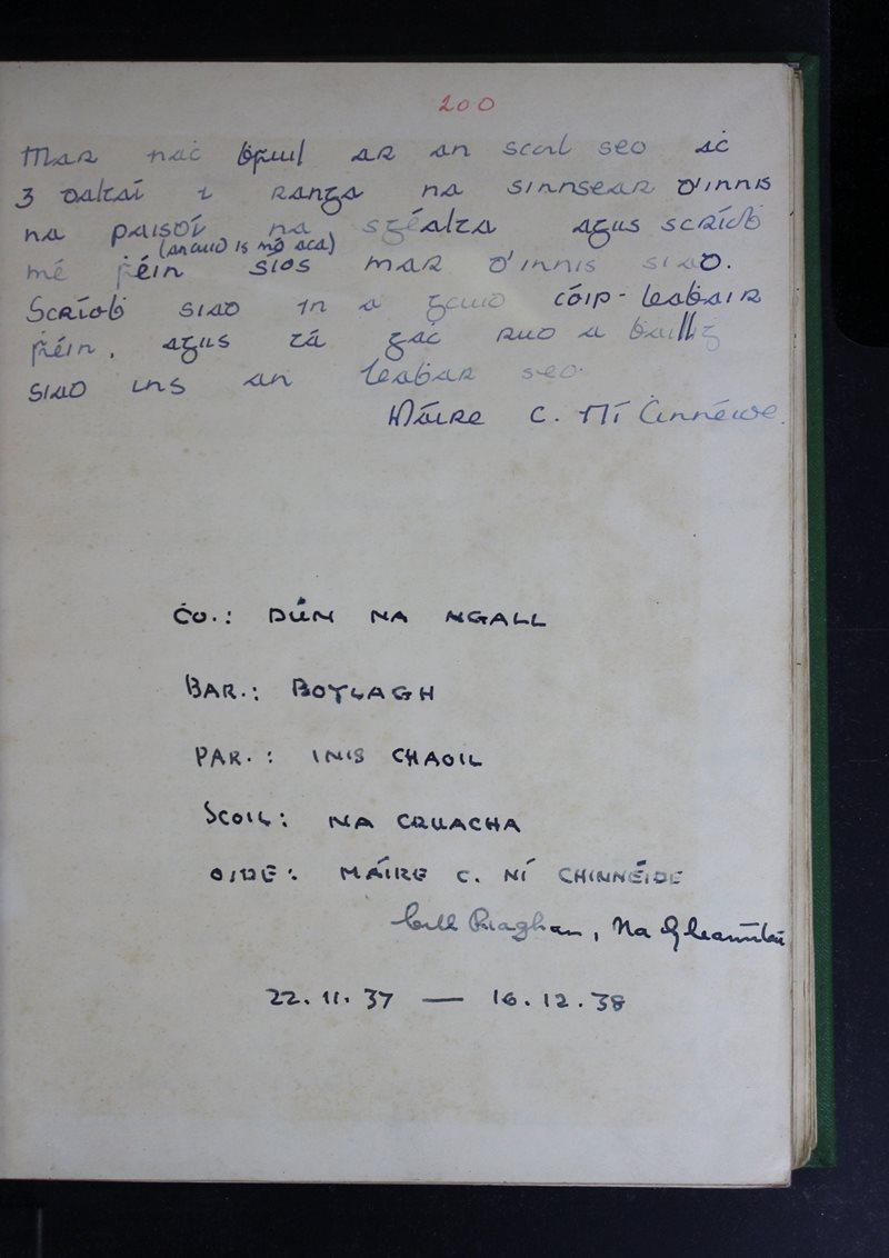 Na Cruacha   The Schools' Collection