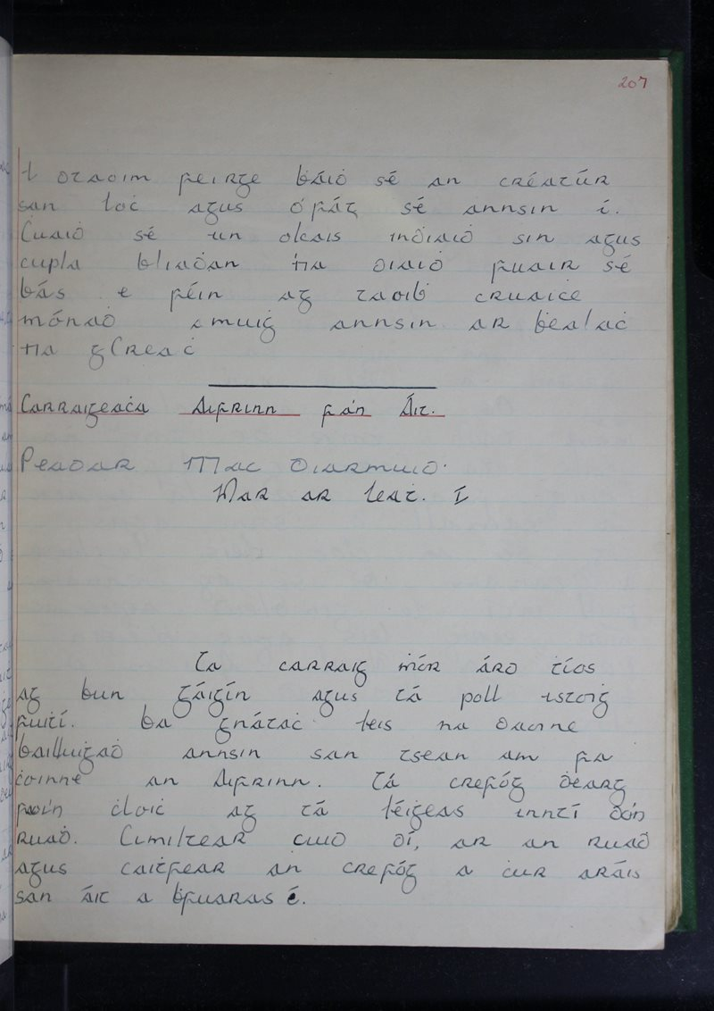 Na Cruacha | The Schools' Collection