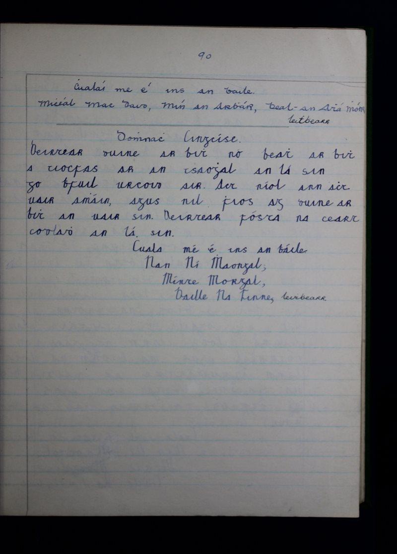 Lochmuice   The Schools' Collection