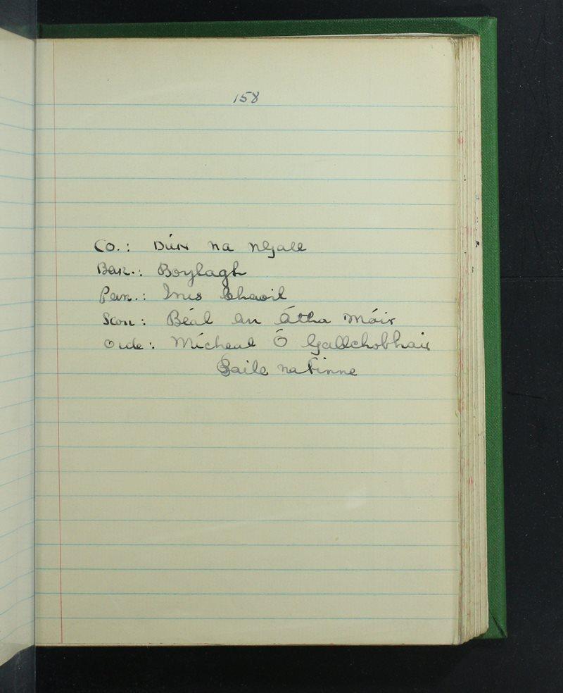 Béal an Átha Móir   The Schools' Collection