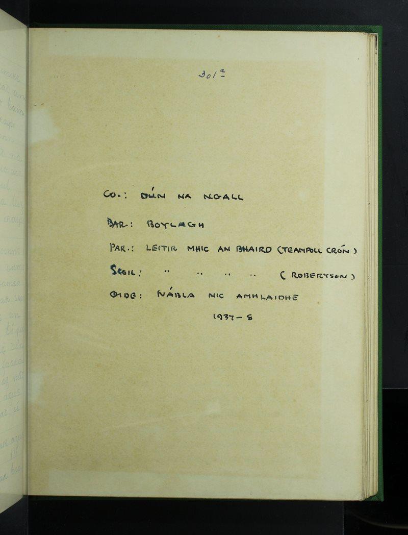 Leitir Mhic an Bhaird (Robertson) | The Schools' Collection