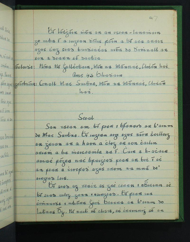 Mín na Mánrach   The Schools' Collection