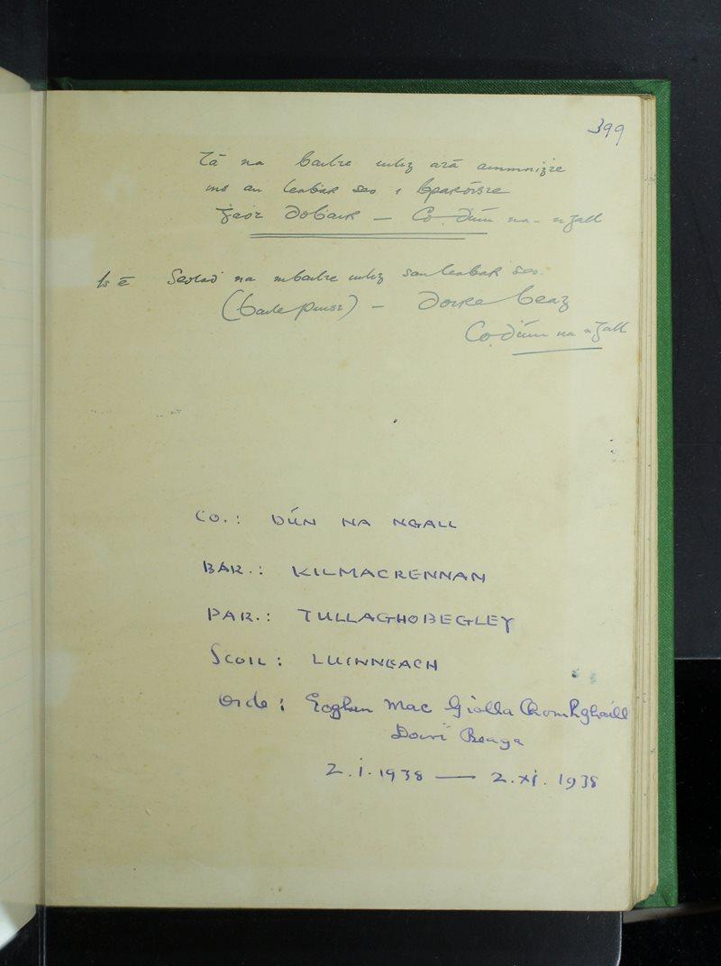 Luinneach   The Schools' Collection