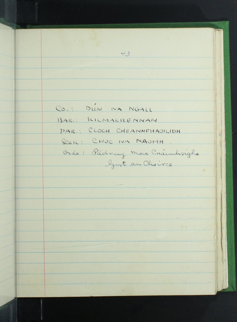 Cnoc na Naomh | The Schools' Collection