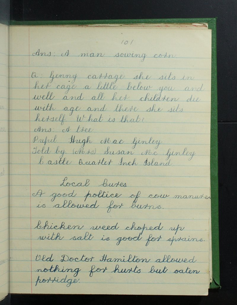 Inch Island | The Schools' Collection