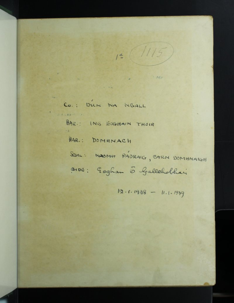 Naomh Pádraig, Carn Domhnaigh   The Schools' Collection