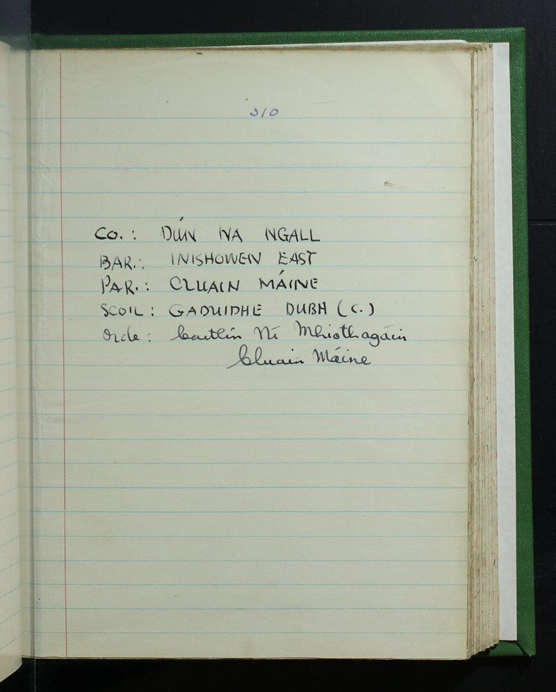Gaduidhe Dubh (C.)   The Schools' Collection