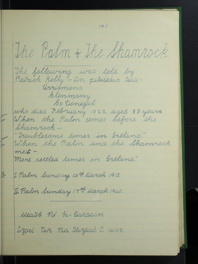 Tír na Sligeach (C.) | The Schools' Collection