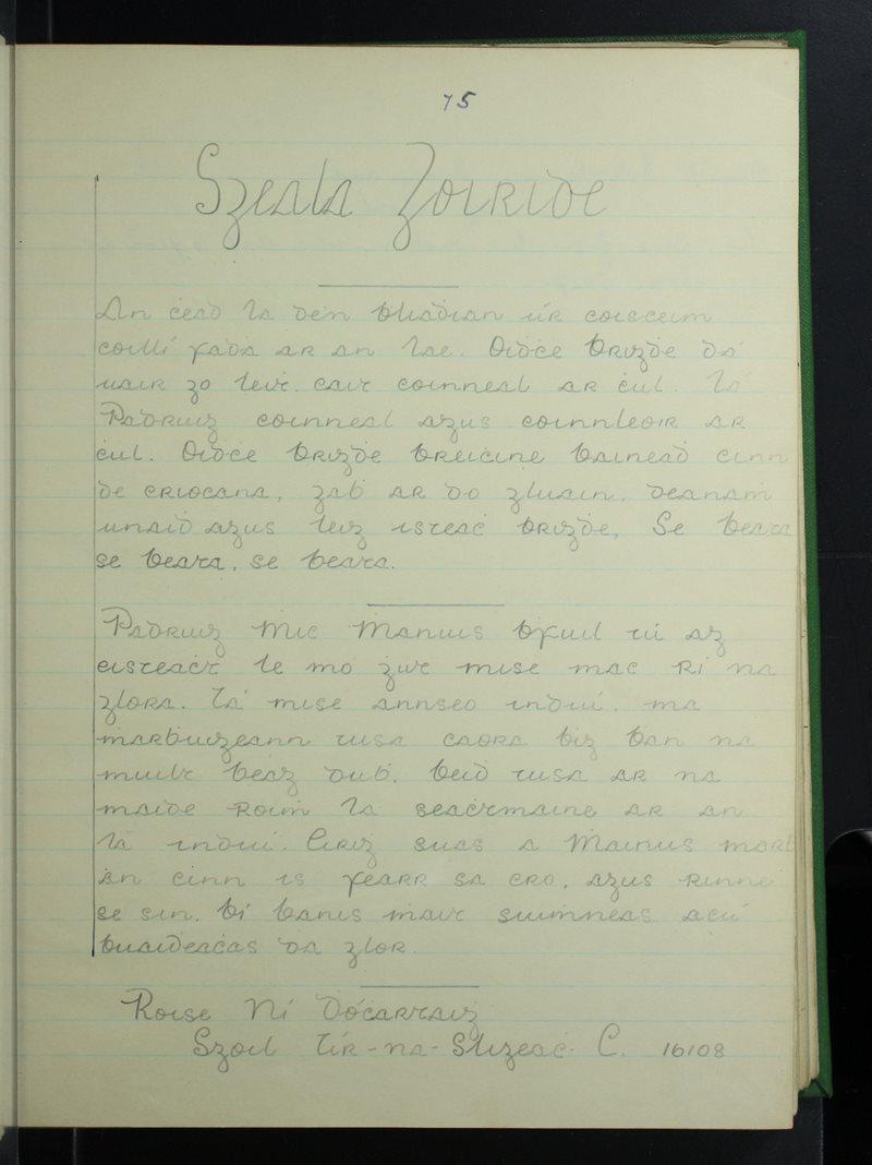 Tír na Sligeach (C.)   The Schools' Collection